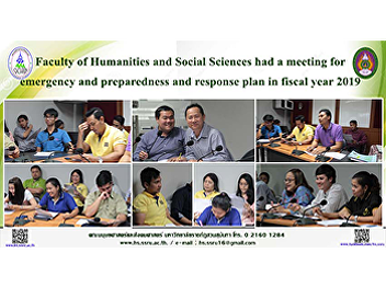 Faculty of Humanities and Social Sciences had a meeting for emergency and preparedness and response plan in fiscal year 2019