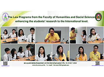 The Law Programs from the Faculty of Humanities and Social Sciences enhancing the students' research to the International level.