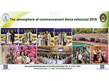 The atmosphere of commencement dress rehearsal 2019