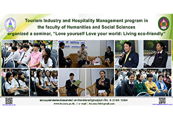 """Tourism Industry and Hospitality Management program in the faculty of Humanities and Social Sciences organized a seminar, """"Love yourself Love your world: Living eco-friendly"""""""
