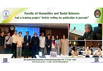 "Faculty of Humanities and Social Sciences had a training project ""Article writing for publication in journals"""