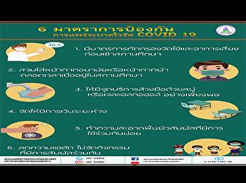 6 มาตราการป้องกันการแพร่ระบาดไวรัส COVID 19 คณะมนุษยศาสตร์และสังคมศาสตร์ มหาวิทยาลัยราชภัฏสวนสุนันทา