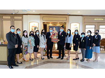Faculty of Humanities and Social Sciences had a Happy New Year greeting to the Vice president for Student Affairs, Suan Sunandha Rajabhat University