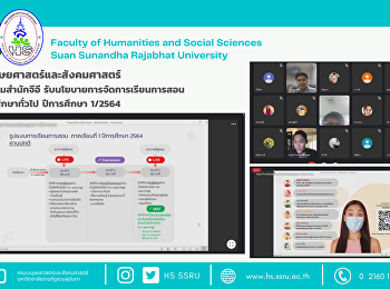 คณะมนุษยศาสตร์และสังคมศาสตร์ ร่วมประชุมสำนักจีอี รับนโยบายการจัดการเรียนการสอนรายวิชาศึกษาทั่วไป ปีการศึกษา 1/2564